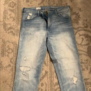 Authentic boyfriend distressed jeans light wash